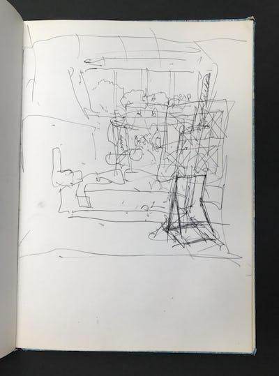 Studio Window and Easel