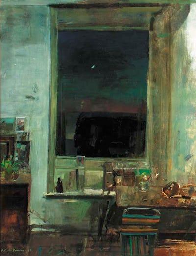 """The Crescent Moon, Studio at Egerton, 50"""" × 39"""""""