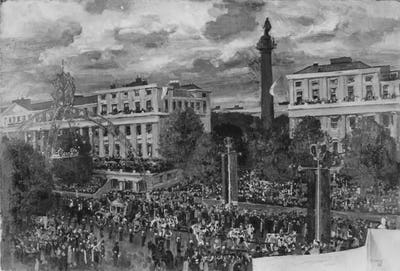 The Crowd in the Mall, 3 June 1953, Government Art Collection