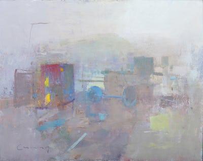 "Harbour Scene, 8"" × 10"""