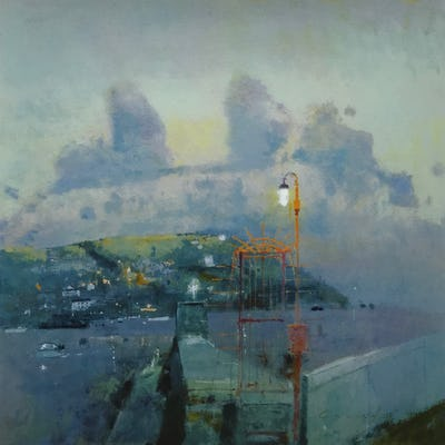 Waiting for the Ferry, Fowey Harbour, 2009, Image and paper size: 47.5 x 47.5 cm