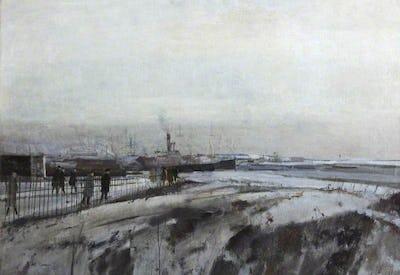 Rochester Snowscape, Kent, c1960's, Loughborough University Collection