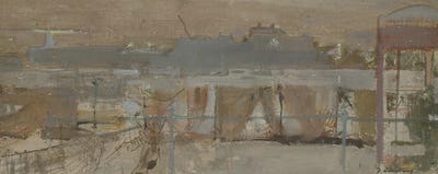 "The Nets, Folkestone Harbour, 8"" × 18"""