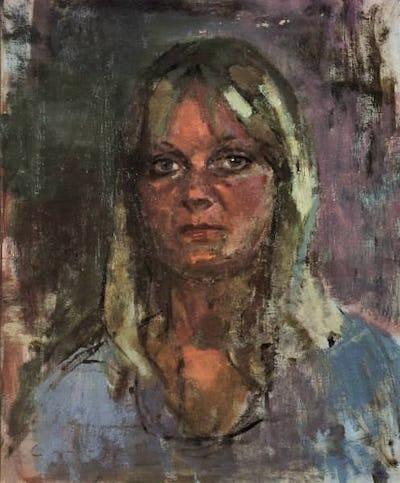 "Audrey, 1976, 28"" × 24"""