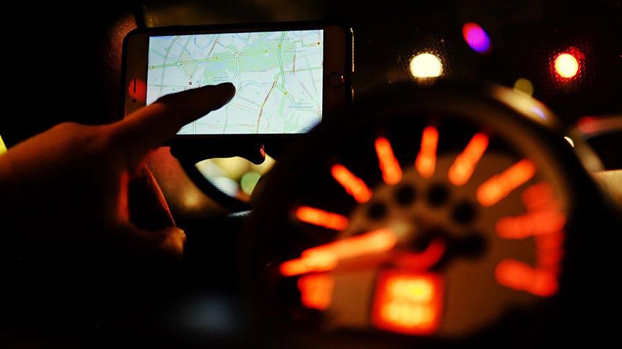 Innenraum Auto mit Navigationsgerät