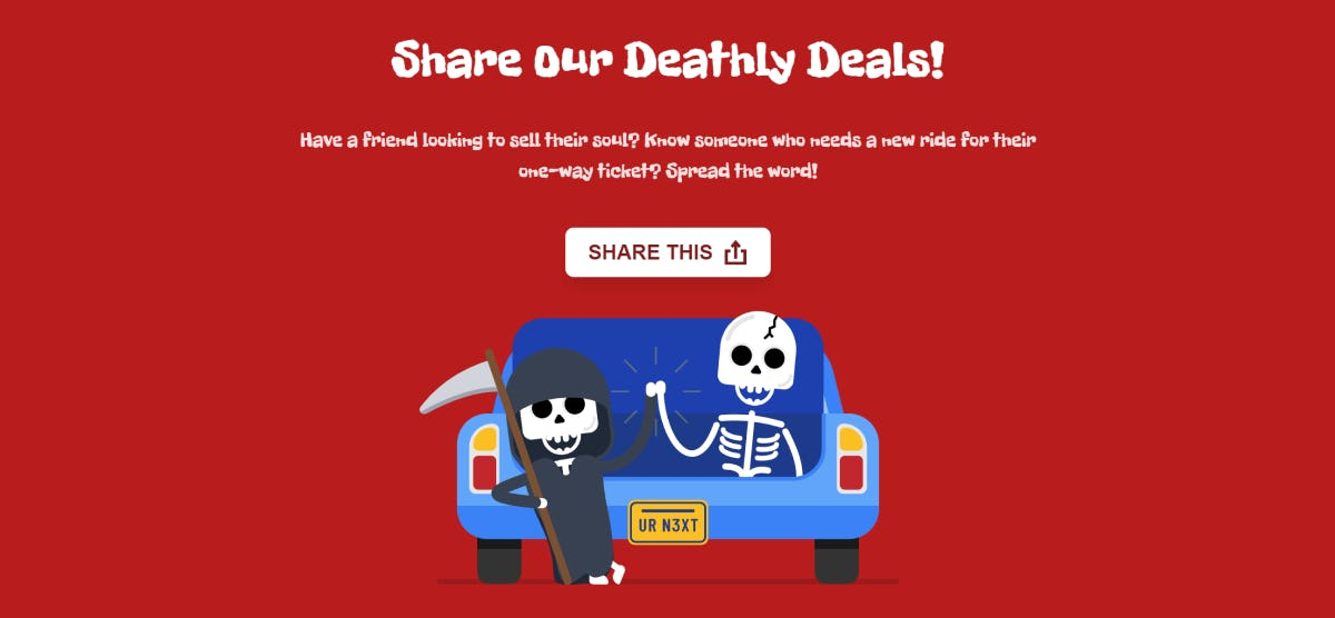 Sharing Deadly Deals with the Share API!