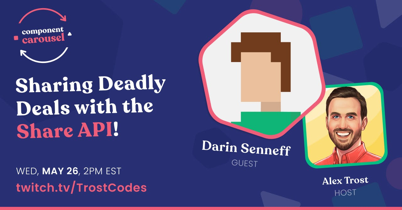 Sharing Deadly Deals with the Share API! with Darin Senneff