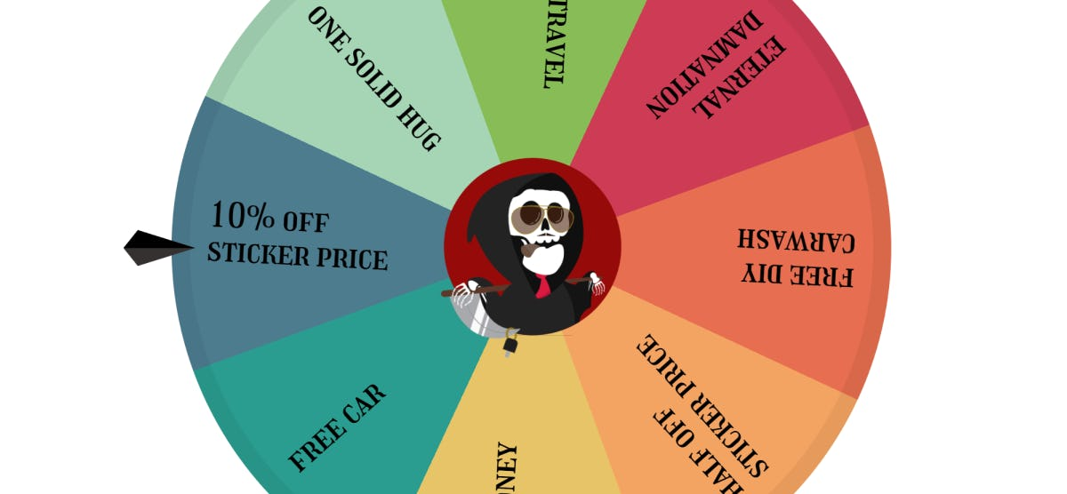 Spinning up a Deal Wheel Component!