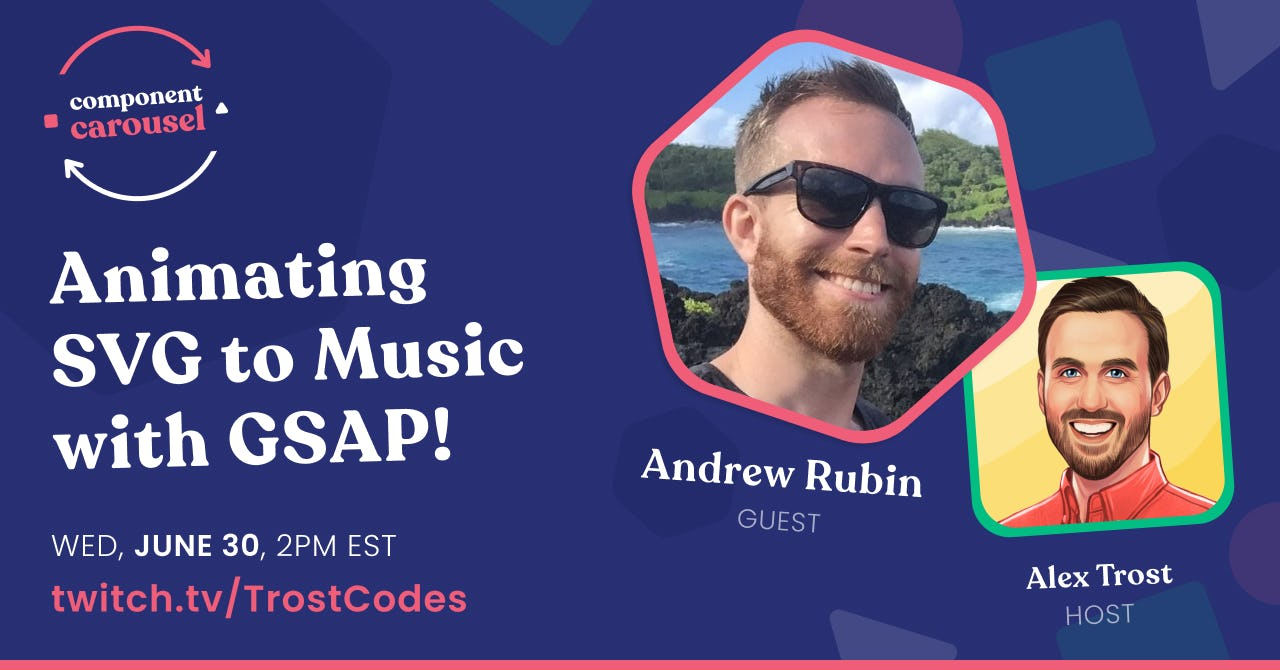 Animating SVG to Music with GSAP! with Andrew Rubin