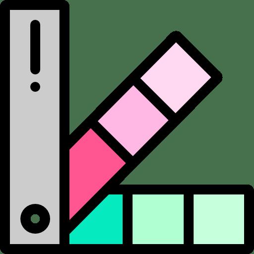 a color palette sheet