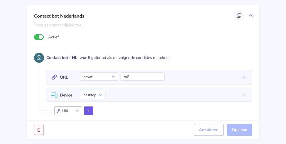 custom condities contact bot okura