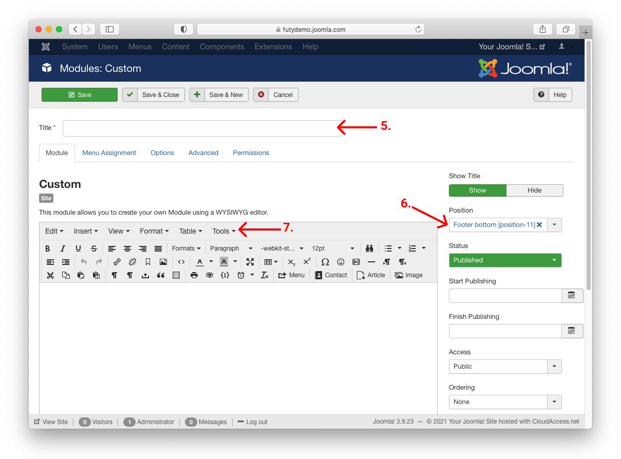 Joomla website whatsapp chat widget in footer toevoegen