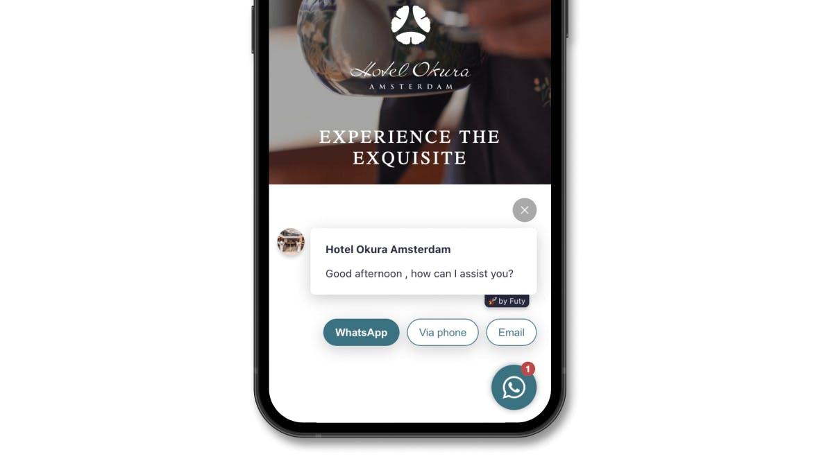 hotel okura futy contact bot multi language chatbot