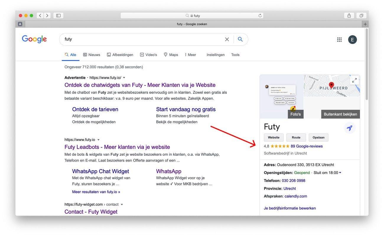google review link maken stap 7