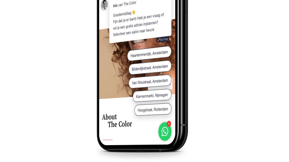 the color whatsapp bot meerdere telefoonnummers