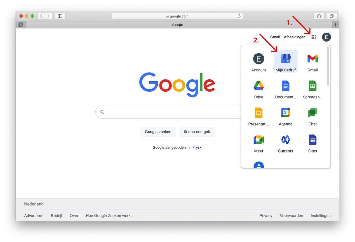 google review link maken stap 1