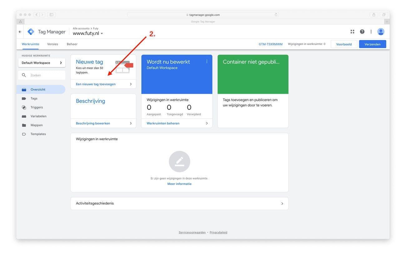 google tag manager handleiding whatsapp chat widget installeren website
