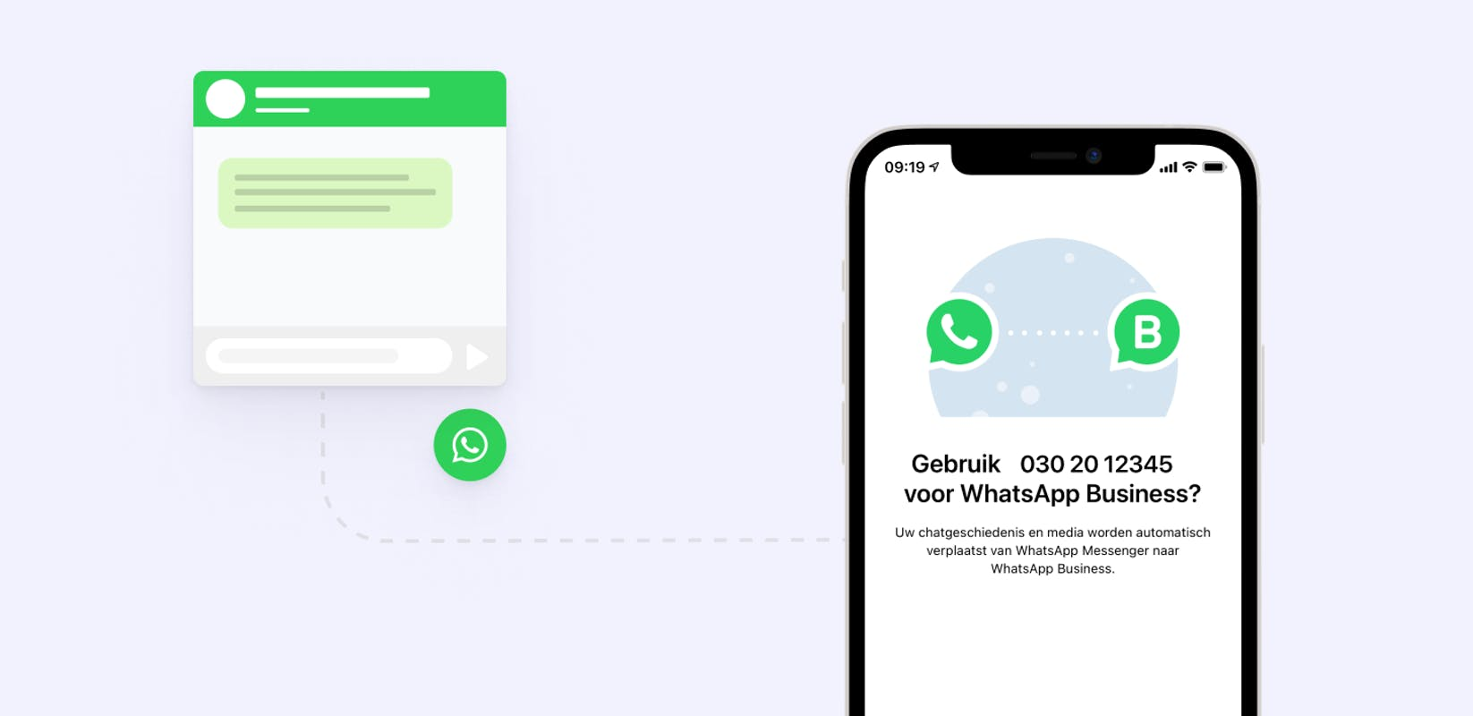 whatsapp business chat widget website