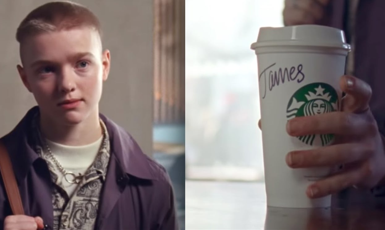 Starbucks commercial featuring a trans man named James.