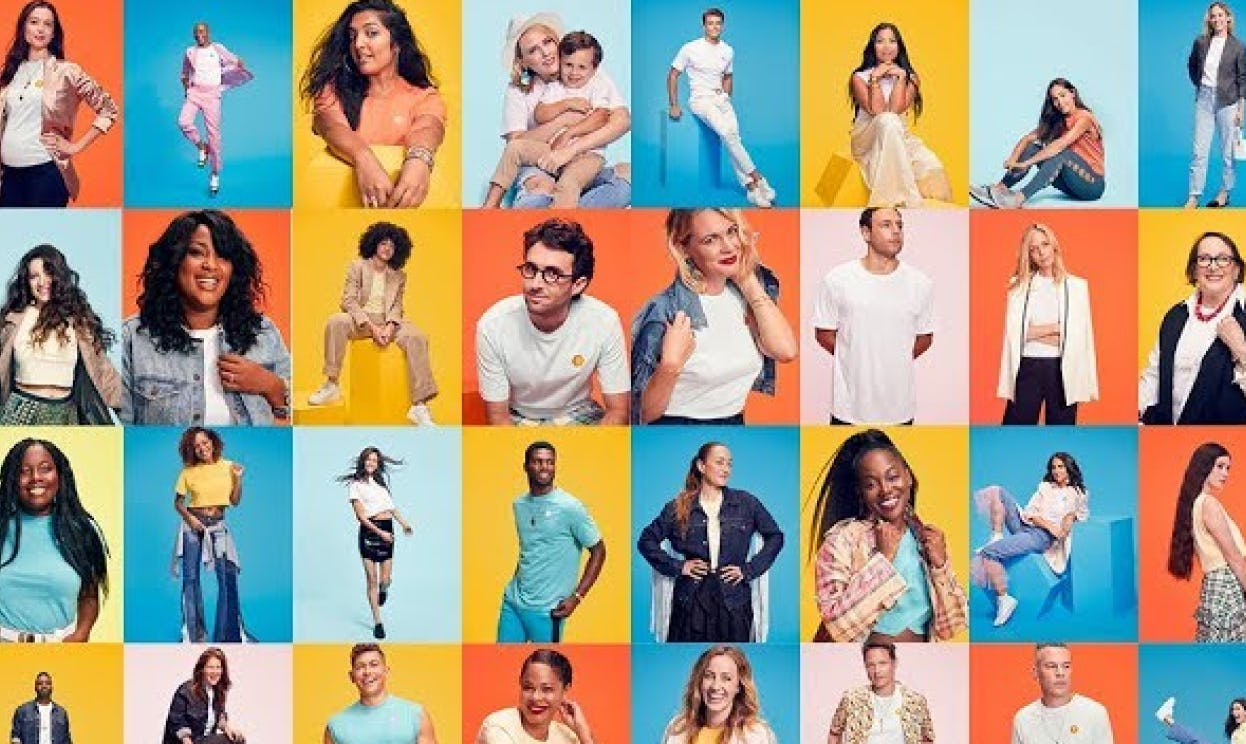 A colorful collage of diverse New Yorkers who use Bumble.