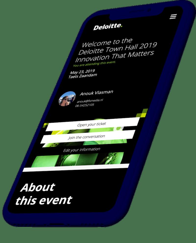 Event applicatie voor interactie tijdens het event