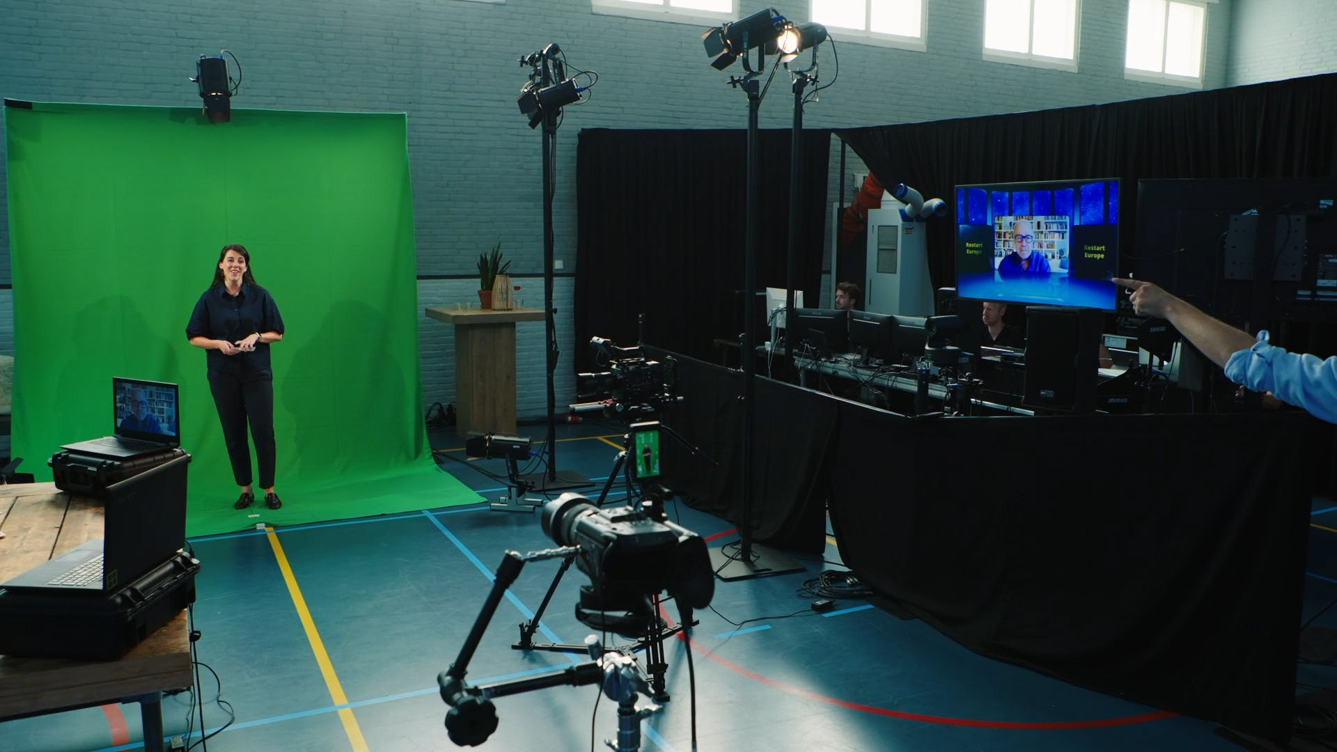 Green screen virtuele studio