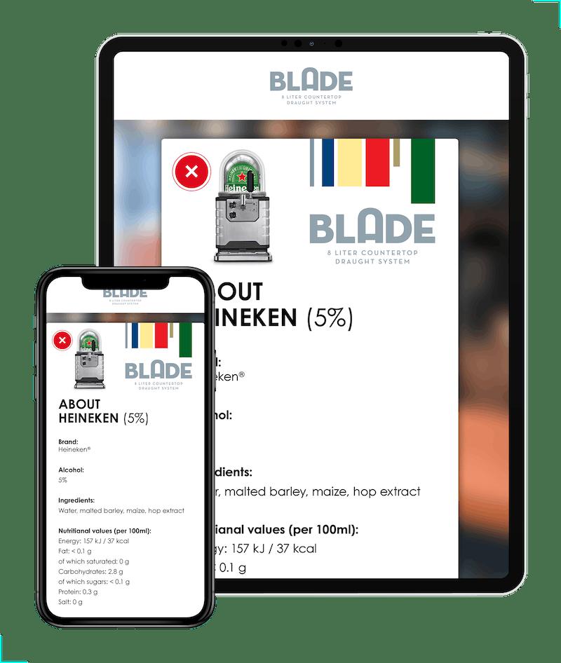Blade App Heineken