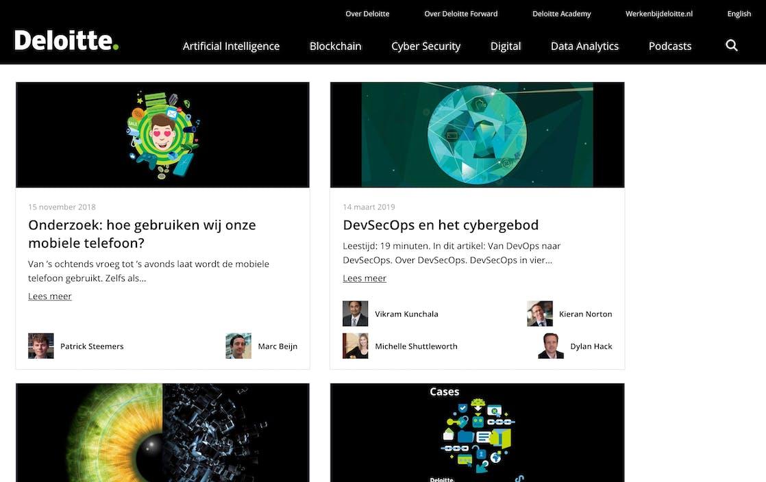 Online Platform 'Deloitte Forward'