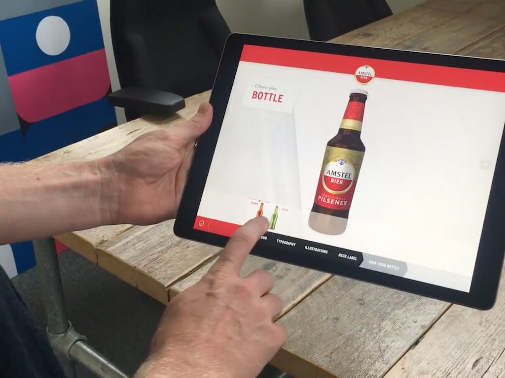 Augmented Reality Amstel - Bottle Configurator