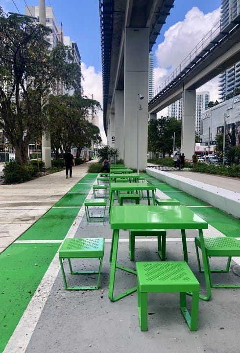 First Section Of The Underline — Miami's Linear Park — Opens Under The Metrorail