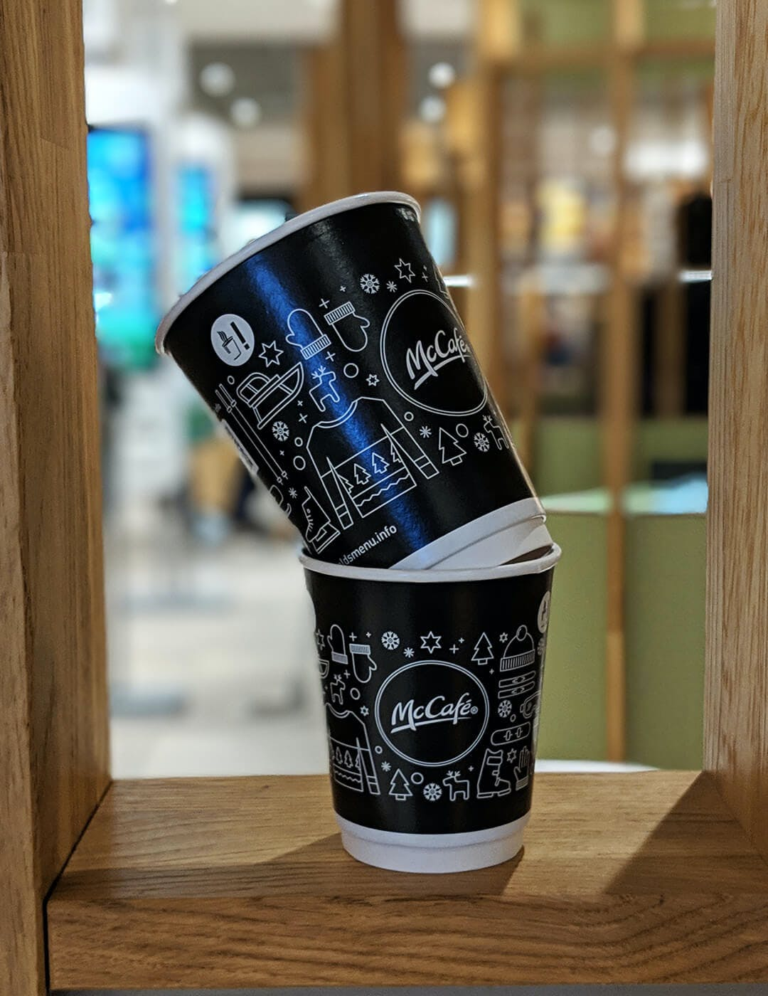 Mc Cafe Stacked Vertical photo cups