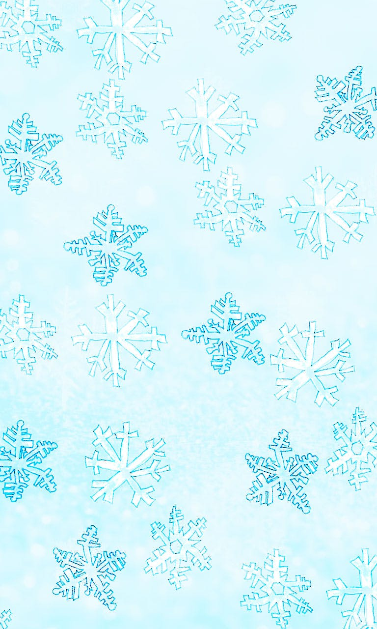 Garitma, fondo de pantalla para celular patrón copos de nieve, dibujo marcador sobre papel