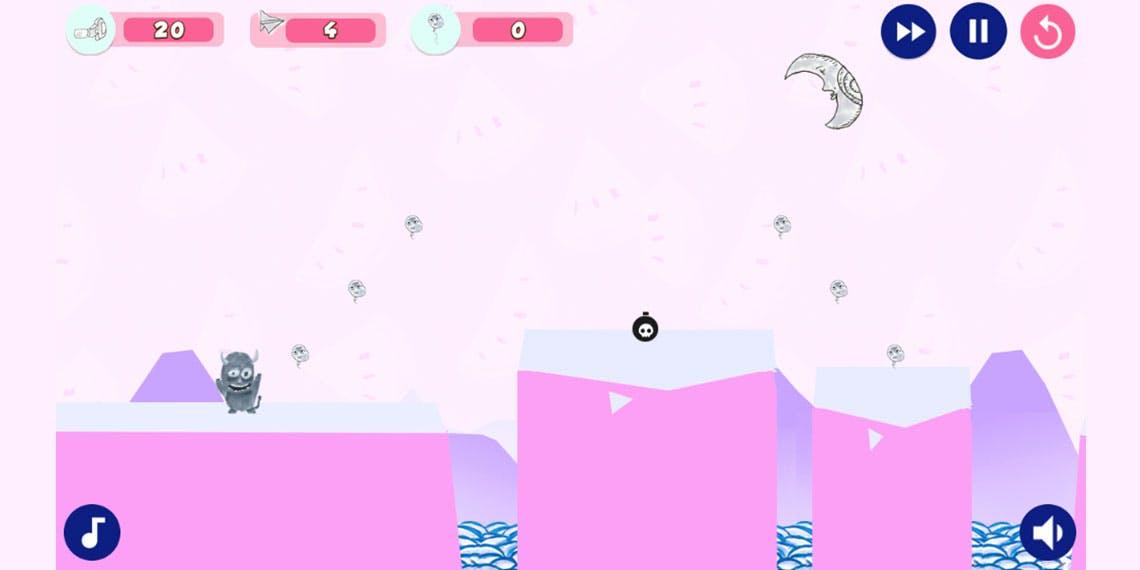 Garitma, juego de plataforma coleccionando globos.