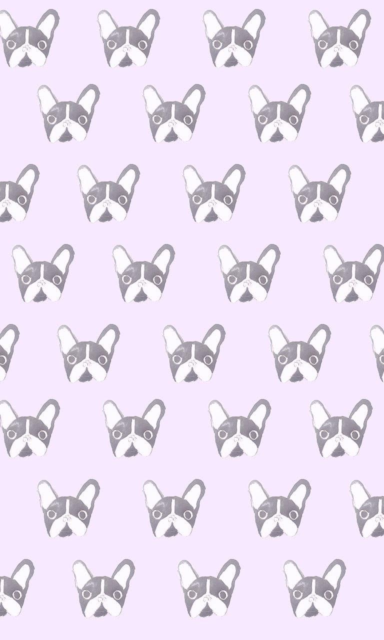 Garitma, fondo de pantalla para celular patrón de perros Boston terrier , dibujo marcador sobre papel