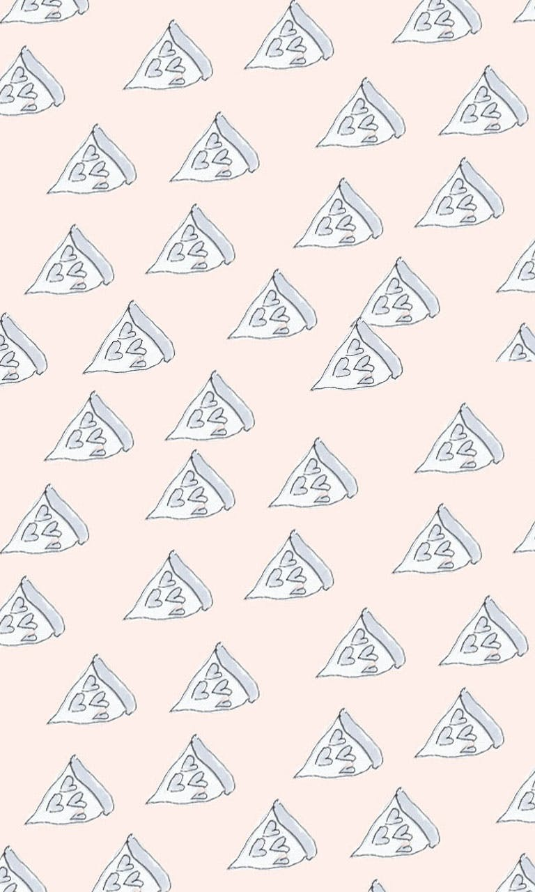 Garitma, fondo de pantalla para celular patrón pizza con corazones, dibujo marcador sobre papel