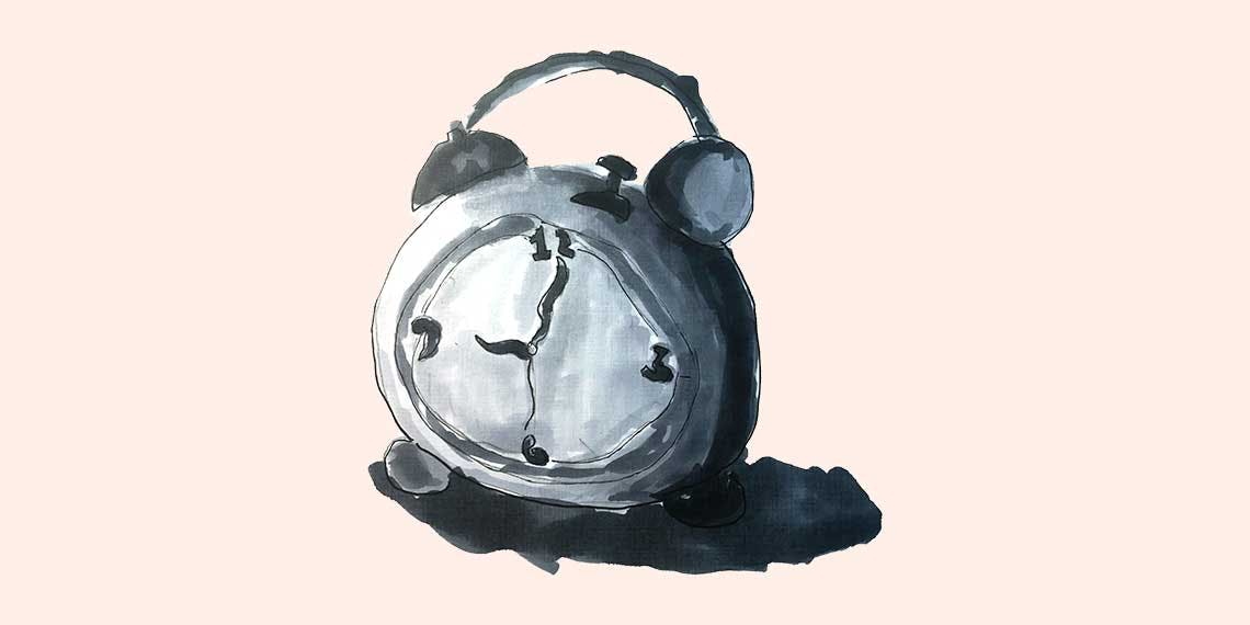 Dibujo de reloj en marcador sobre papel por garitma