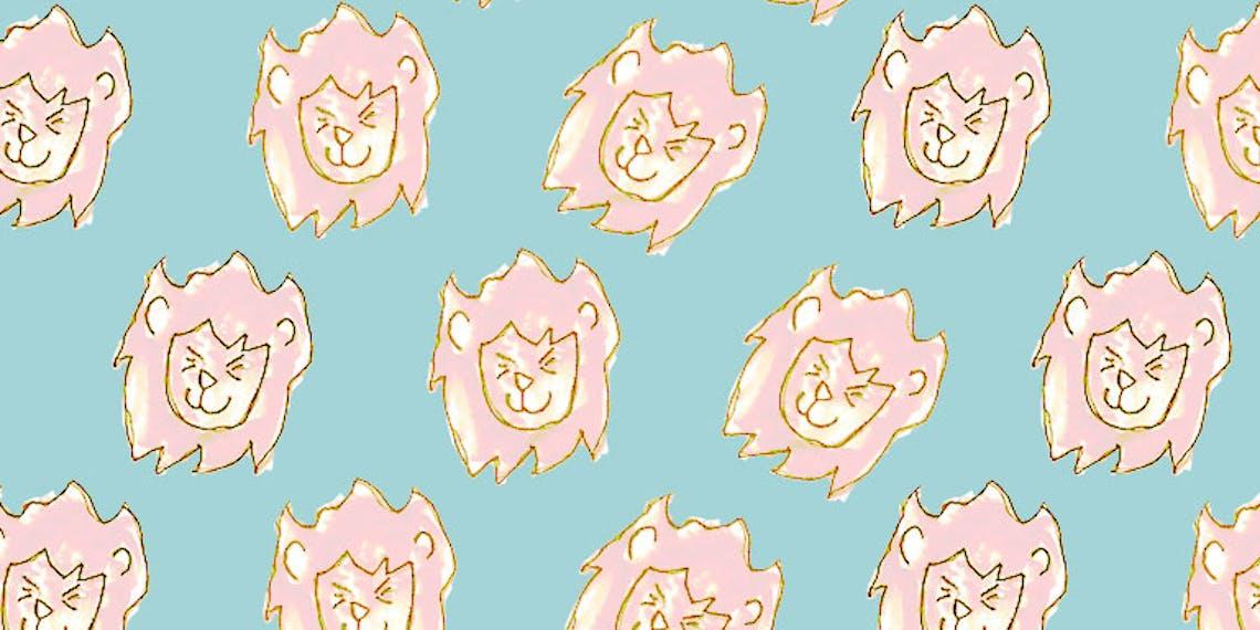 Fondo de pantalla león kawaii