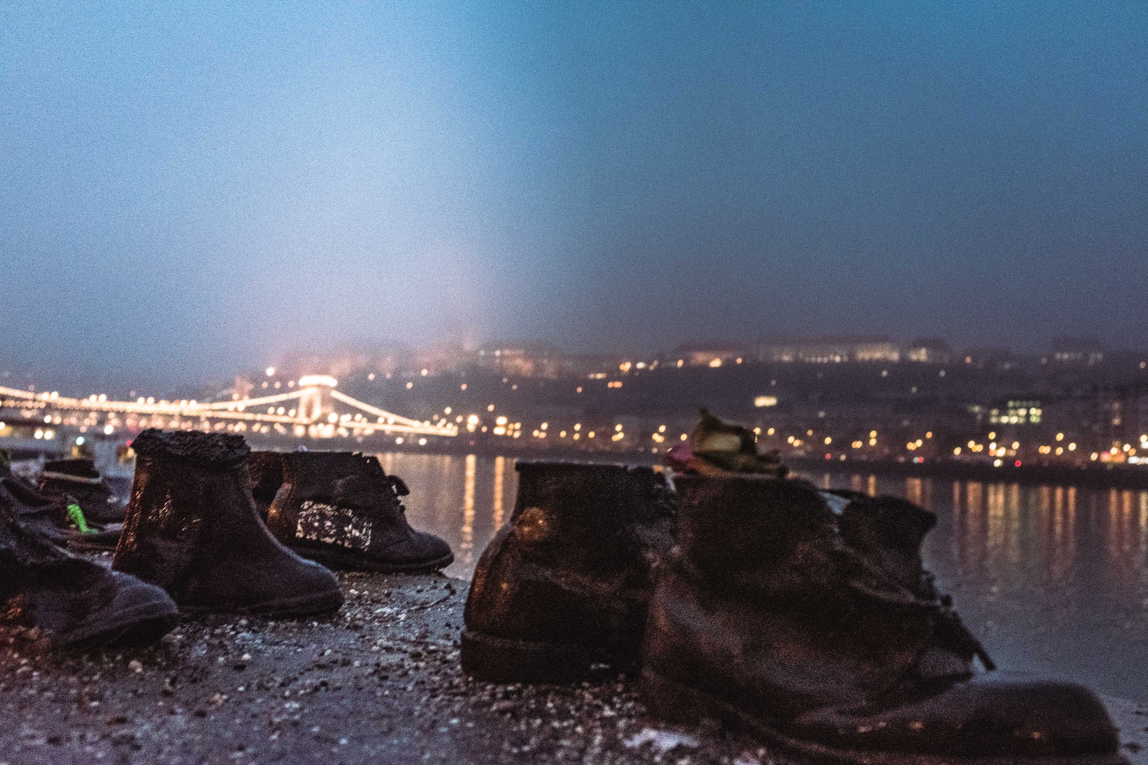 Shoes on the Danube Bank, Hungary.