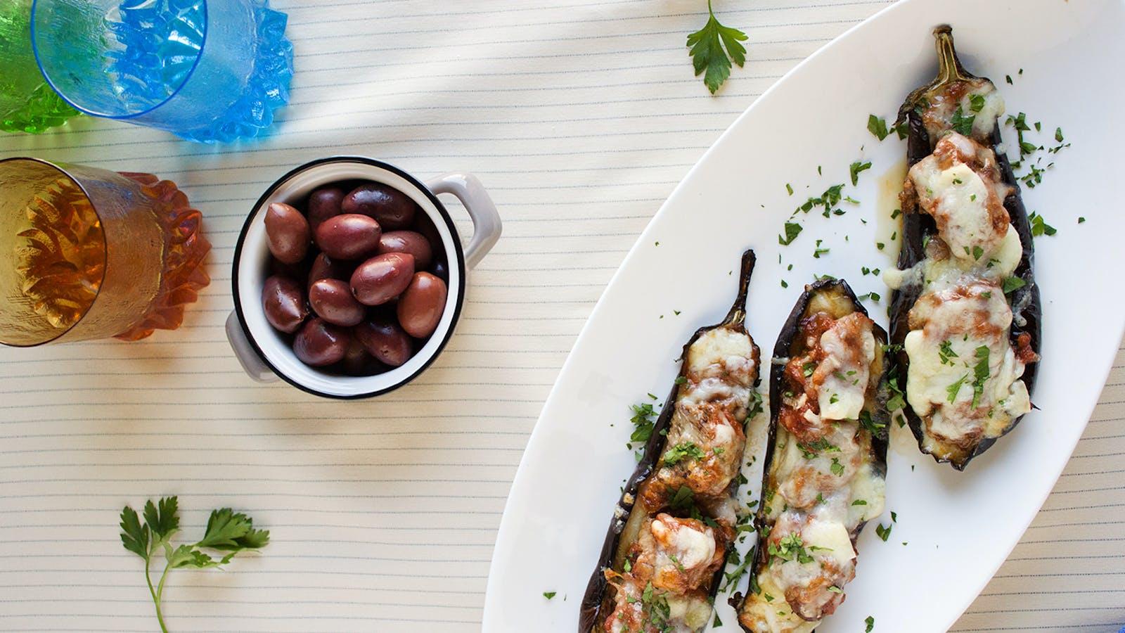 Papoutsakia eggplant recipe from Naxos