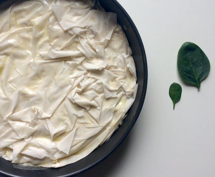 Spinach pie recipe (spanakopita)