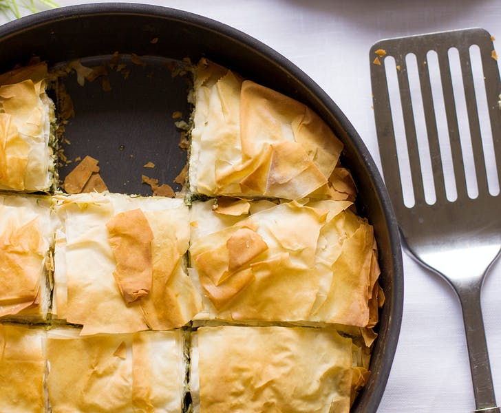 Spanakopita spinach and cheese pie, the best of Greek pies!