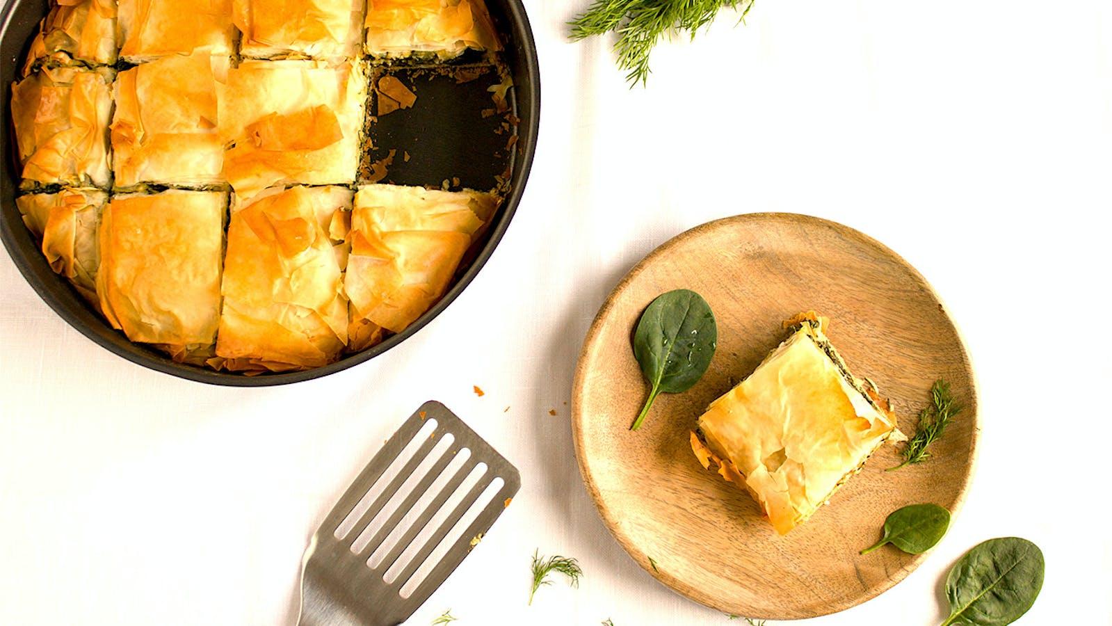 Spanakopita, the Greek spinach pie recipe