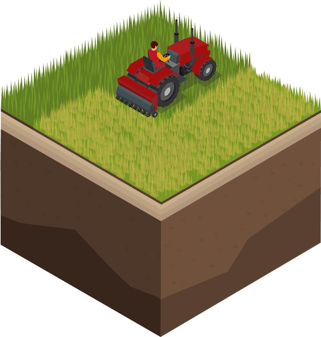 Vector scarificare gazon