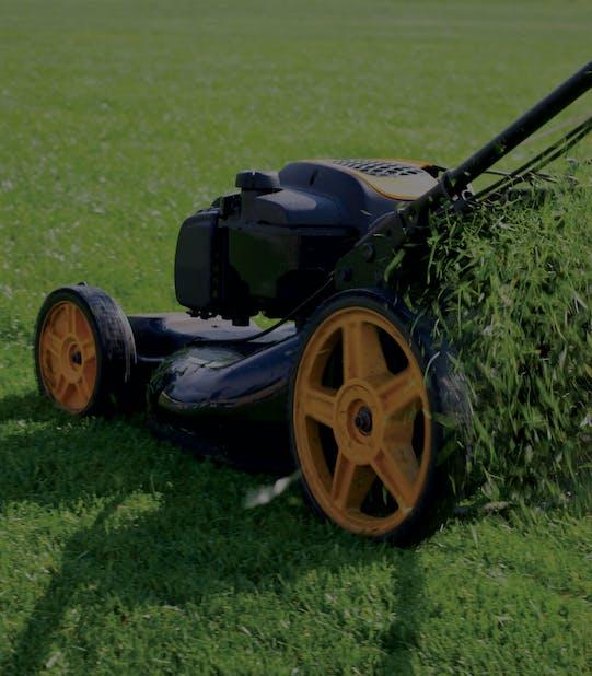masina de tuns iarba care coseste gazonul