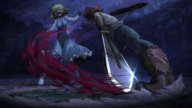 Tatsumi killing Aria, the supposedly kind noble who lent him a hand in the Capital.