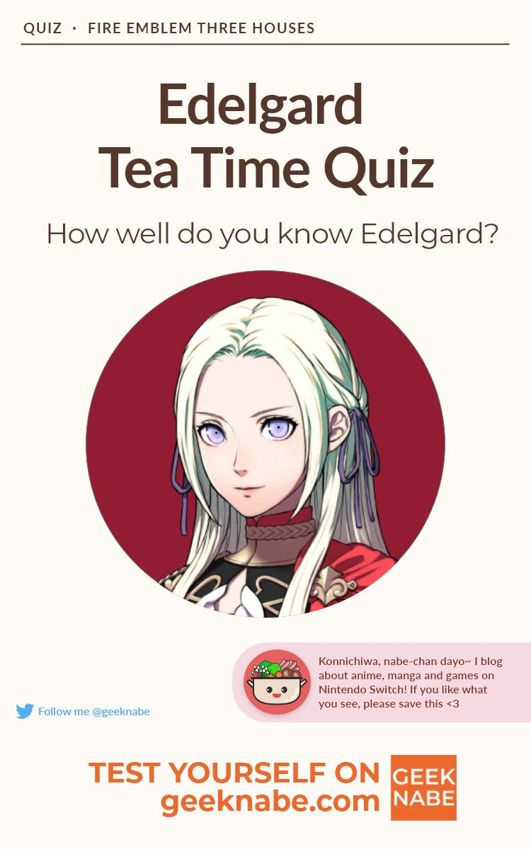Graphic for tea time quiz as a pin in Pinterest