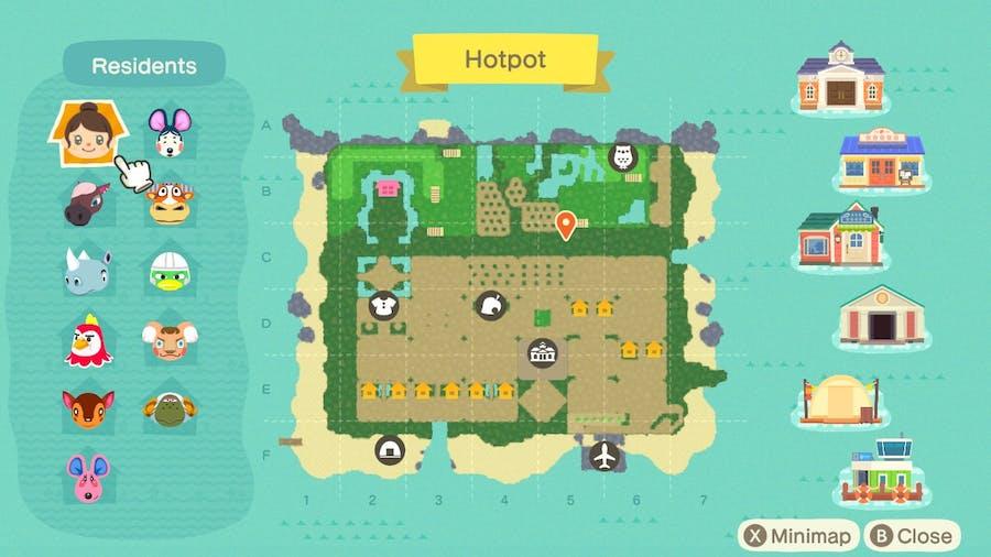Hotpot island map
