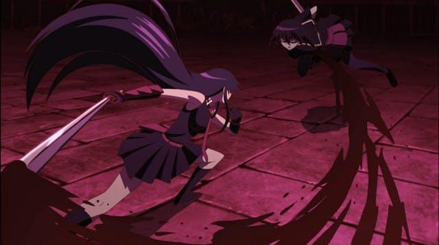 Akame Ga Kill! fight scene - Akame versus Kurome