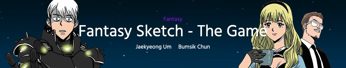 Fantasy Sketch - The Game banner in Webtoon