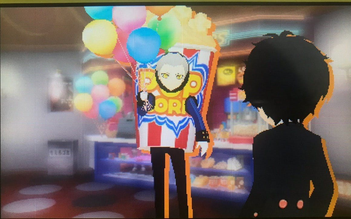 Theodore from Persona 3 in a popcorn costume